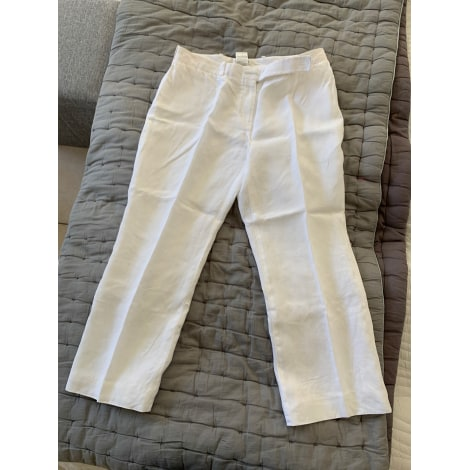 Pantalon droit CÉLINE Blanc, blanc cassé, écru