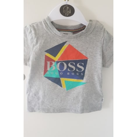 Top, tee shirt HUGO BOSS Gris, anthracite