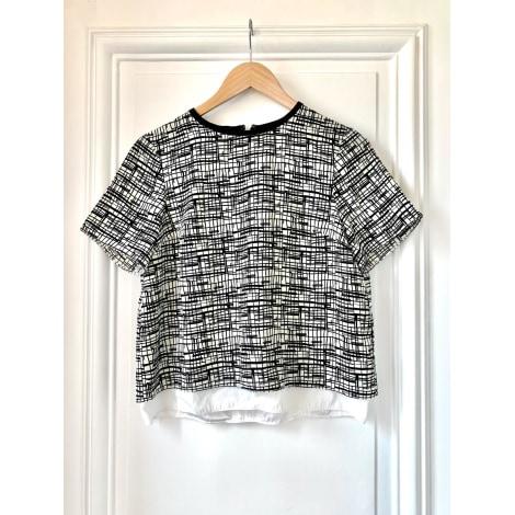 Top, tee-shirt TOPSHOP Noir