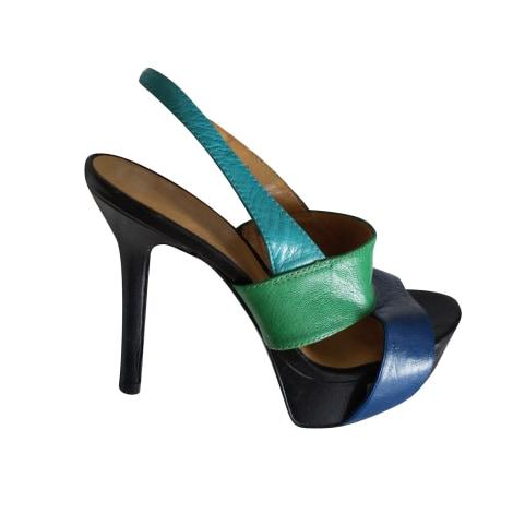 Escarpins à bouts ouverts NINE WEST Bleu, bleu marine, bleu turquoise