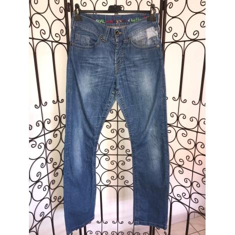 Straight Leg Jeans DESIGUAL Blue, navy, turquoise