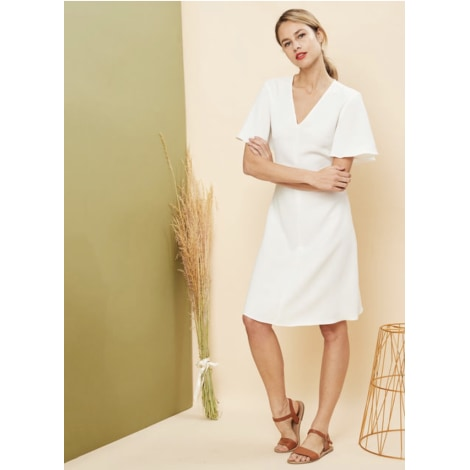 Robe mi-longue TARA JARMON Blanc, blanc cassé, écru