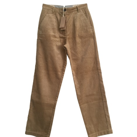 Pantalon large SESSUN Beige, camel