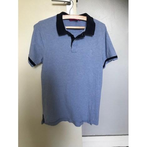 Polo VICOMTE A. Bleu, bleu marine, bleu turquoise