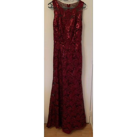 Robe longue DAVID MEISTER Rouge, bordeaux