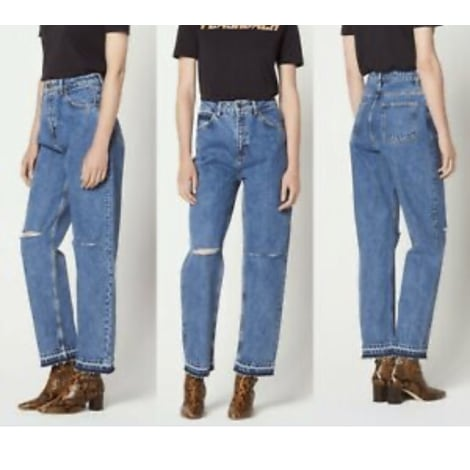 Jeans large, boyfriend SANDRO Bleu, bleu marine, bleu turquoise