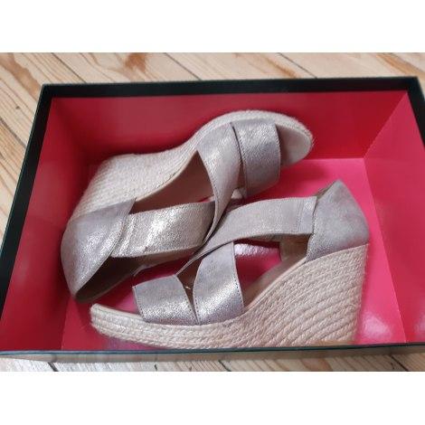 Sandales compensées SOULEIADO Doré, bronze, cuivre