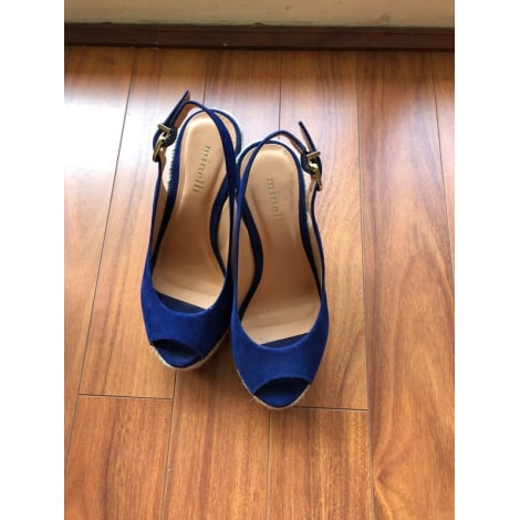 Wedge Sandals MINELLI Blue, navy, turquoise