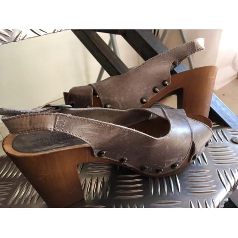 Sandales à talons MARRADINI Beige, camel