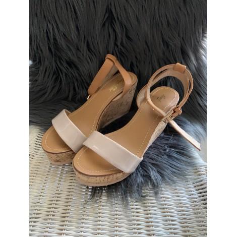 Sandales compensées RENATO NUCCI Beige, camel