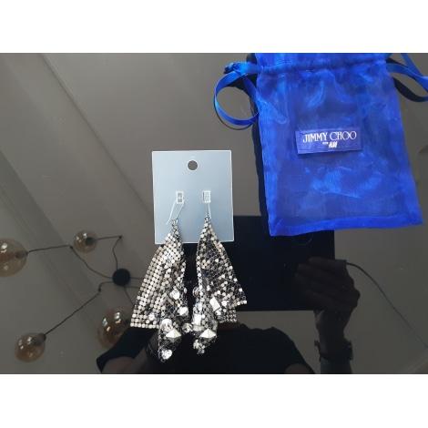 Boucles d'oreille JIMMY CHOO POUR H&M Gris, anthracite