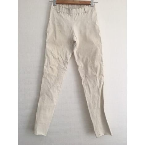 Pantalon slim, cigarette STOULS Blanc, blanc cassé, écru
