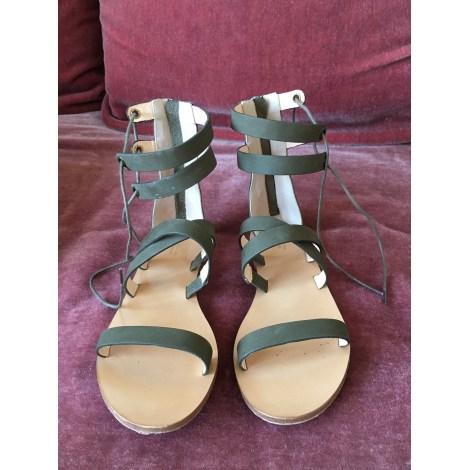 Sandales plates  COMPTOIR DES COTONNIERS Kaki