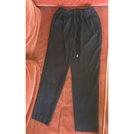 Pantalon large ZARA Bleu, bleu marine, bleu turquoise