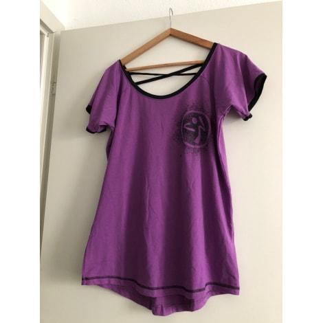 Top, tee-shirt ZUMBA Violet, mauve, lavande