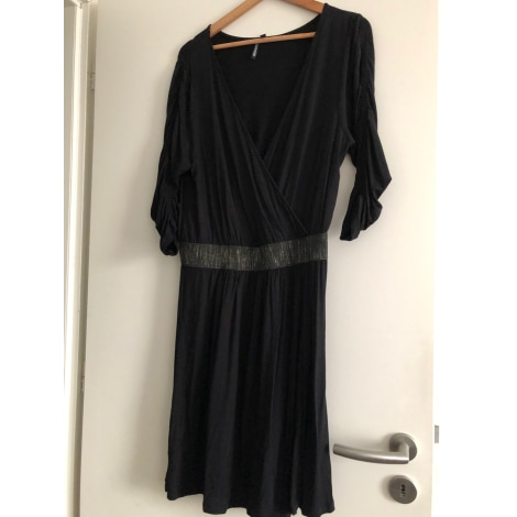 Robe mi-longue GÉMO Noir