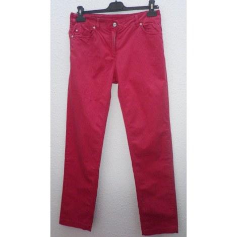 Pantalon droit VOODOO Rouge, bordeaux