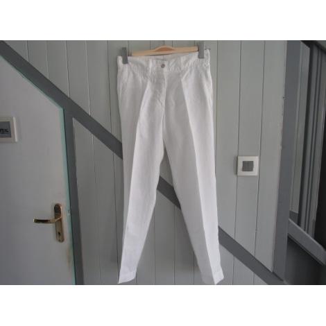Pantalon droit BISCOTE Blanc, blanc cassé, écru