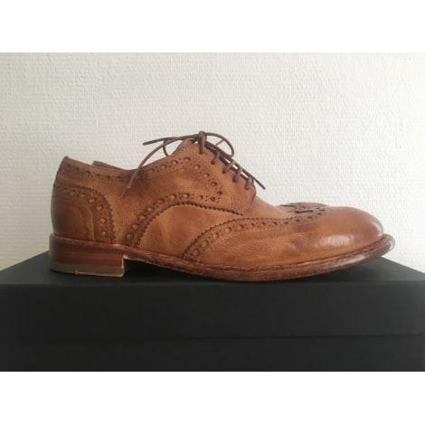 Chaussures à lacets  LA BOTTEGA DI LISA Beige, camel