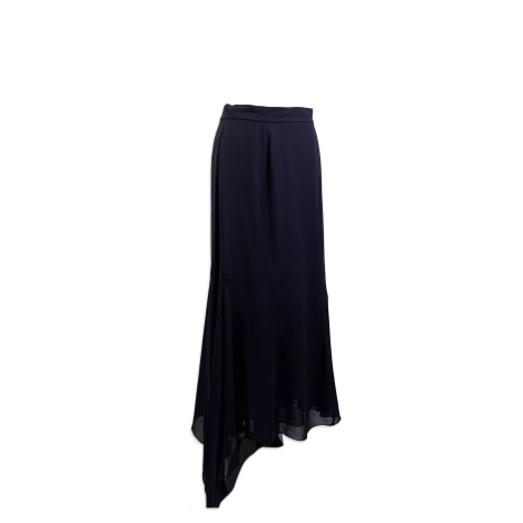 Jupe longue CHANEL Bleu, bleu marine, bleu turquoise