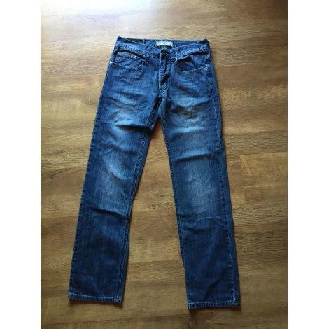 Jeans droit MARQUE INCONNUE Bleu, bleu marine, bleu turquoise