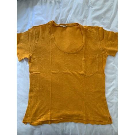 Top, tee-shirt AMERICAN VINTAGE Jaune