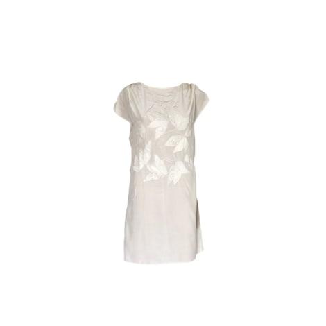 Robe courte ATHÉ VANESSA BRUNO Blanc, blanc cassé, écru