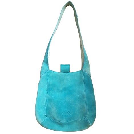 Sac en bandoulière en cuir BALLY bleu turquoise
