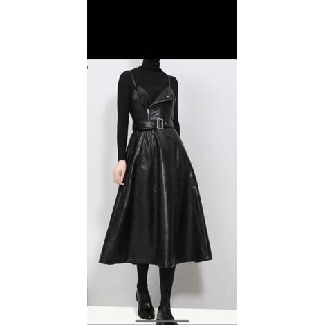 Robe mi-longue SANS MARQUE Noir