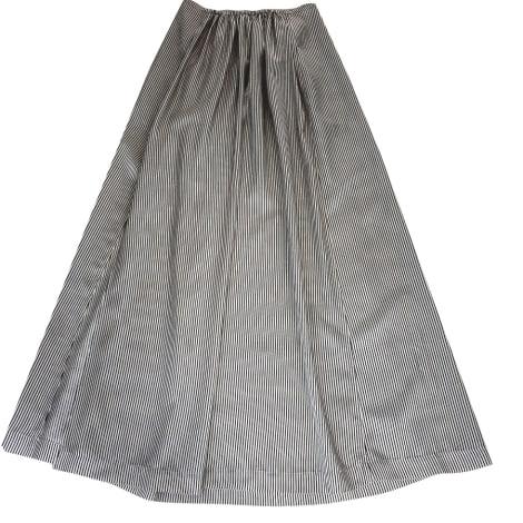 Jupe longue BELLEROSE beige clair avec rayures noires
