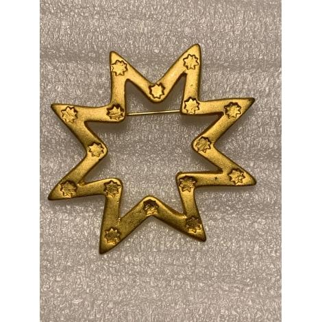 Broche LANCÔME Doré, bronze, cuivre