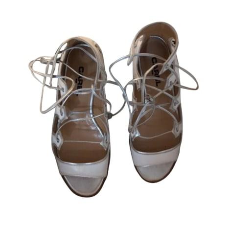 Sandales plates  CAREL Blanc, blanc cassé, écru