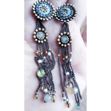 Boucles d'oreille SAOYA Bleu, bleu marine, bleu turquoise
