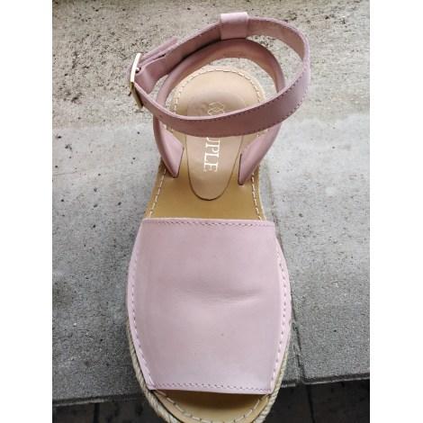 Sandales compensées CUPLÉ Rose, fuschia, vieux rose