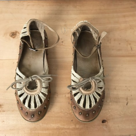 Sandales plates  PATAUGAS Marron