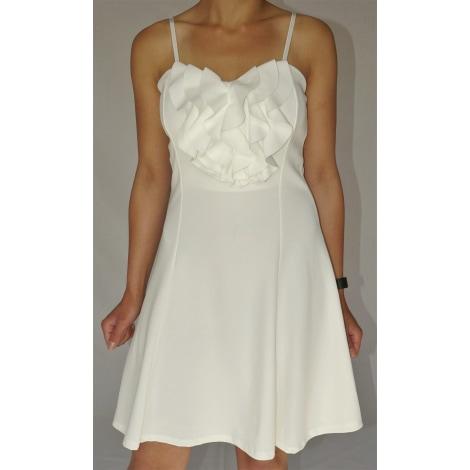 Robe courte MADE IN ITALY Blanc, blanc cassé, écru