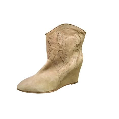 Bottines & low boots à compensés COMPTOIR DES COTONNIERS Beige, camel