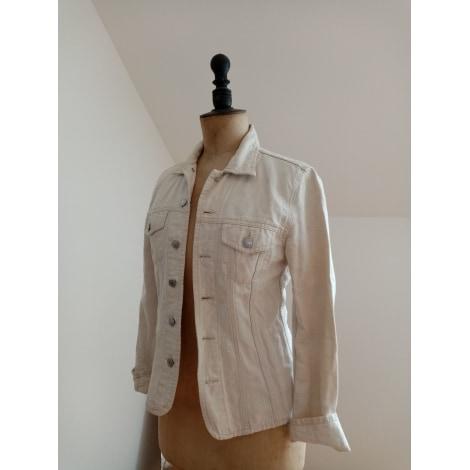 Veste en jean OBER Blanc, blanc cassé, écru