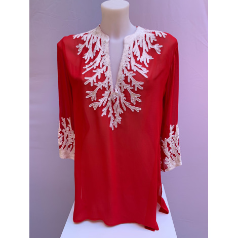 Robe courte INCONNU Rouge, bordeaux