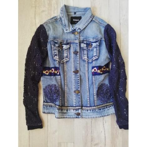 Veste en jean DESIGUAL Bleu, bleu marine, bleu turquoise