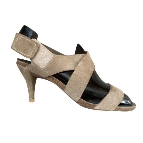Sandales à talons PEDRO GARCIA Beige, camel