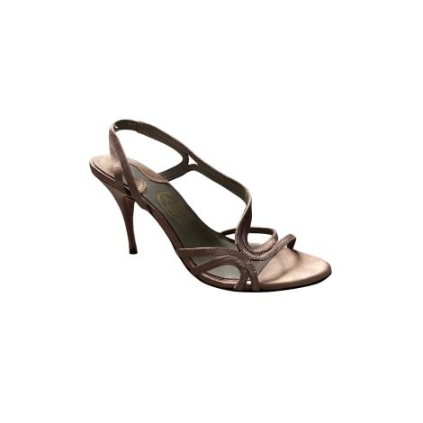 Sandales à talons ASH Doré, bronze, cuivre