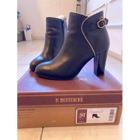 Bottines & low boots à talons M. MOUSTACHE Noir