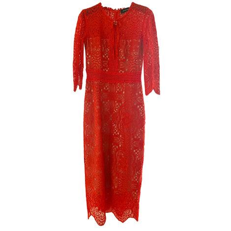 Robe longue THE KOOPLES Rouge, bordeaux