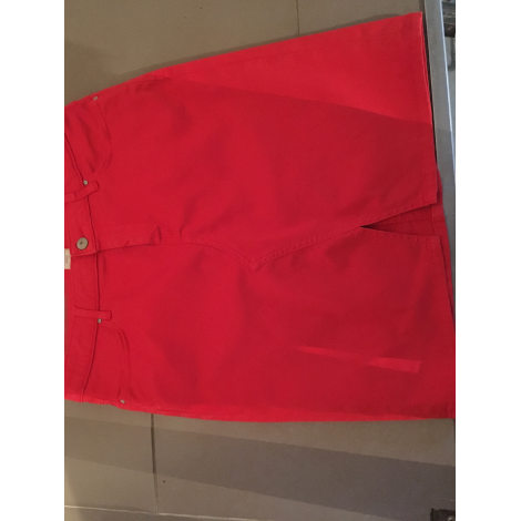 Jupe courte KANOPE Rouge, bordeaux