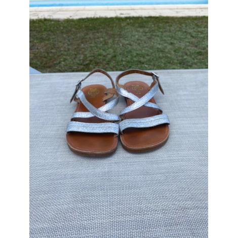 Chaussures à boucle POM D'API Argenté, acier