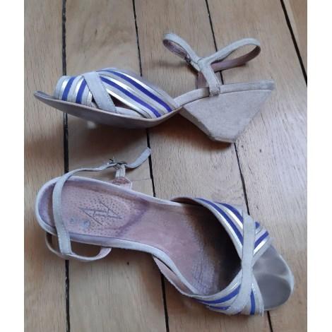 Sandales à talons ANONYMOUS COPENHAGEN Doré, bronze, cuivre