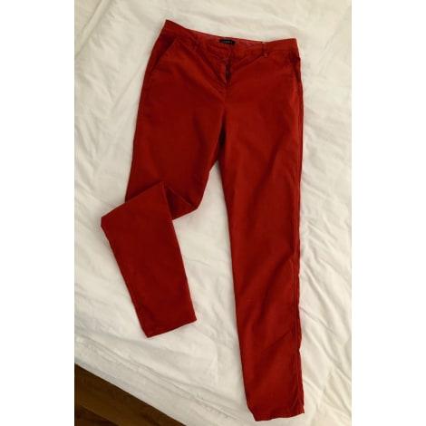 Pantalon droit CAROLL Rouge, bordeaux
