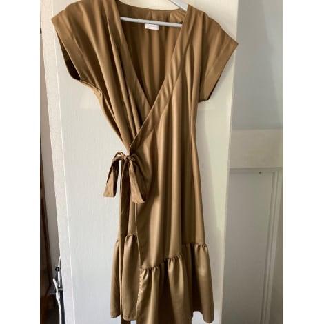 Robe longue SASKIA Doré, bronze, cuivre