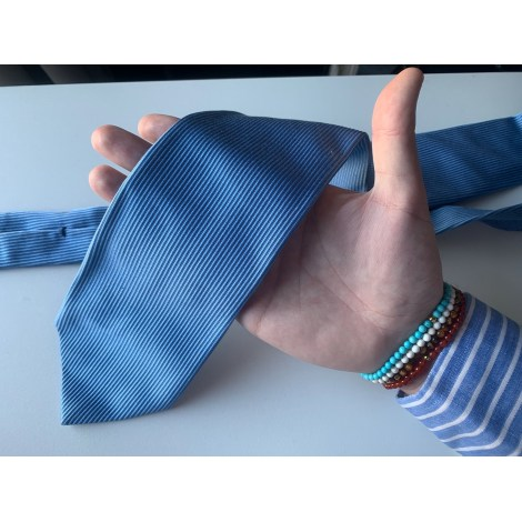 Tie ATELSON Blue, navy, turquoise